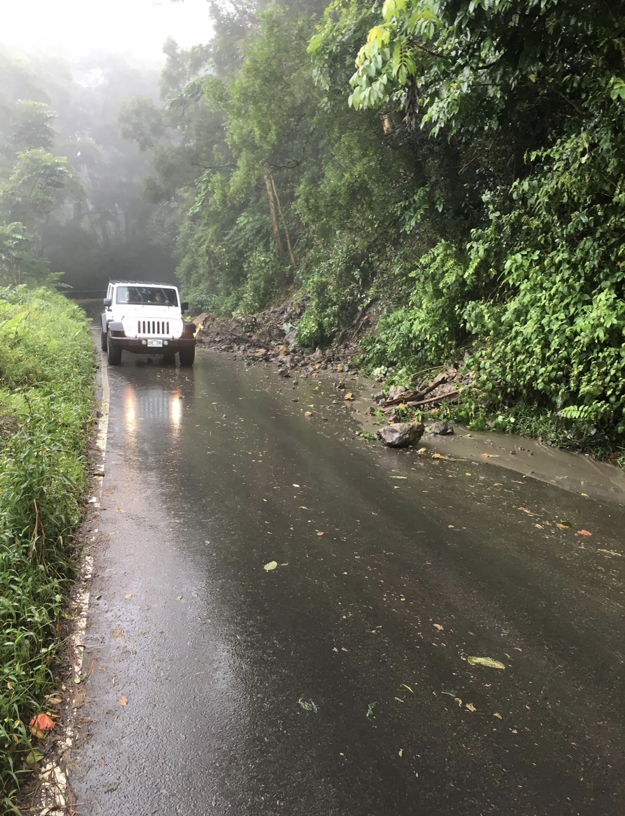 Traffic Advisory: Hana Highway Rockslide