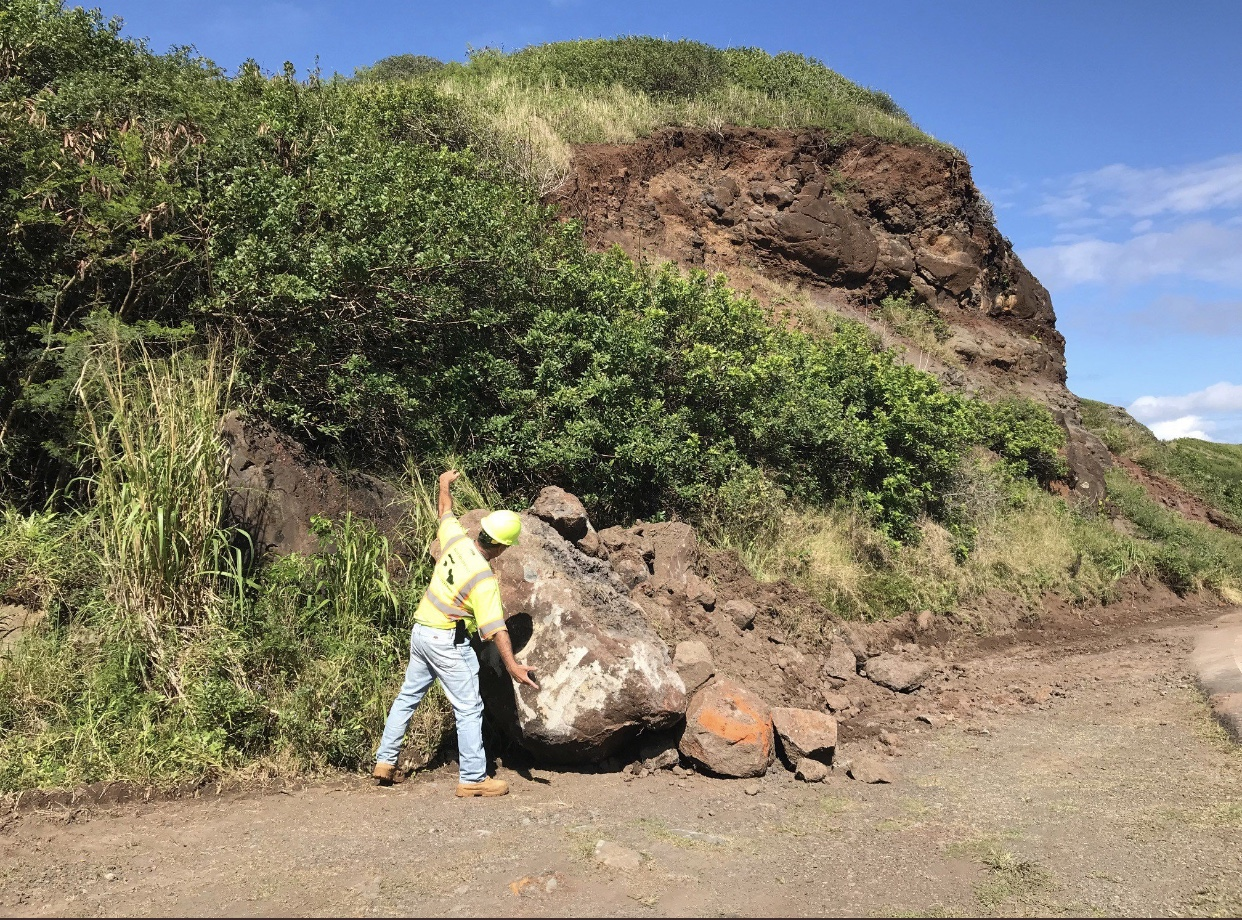Rockfall Mitigation on Honoapiilani Past Kapalua Begins Feb. 26