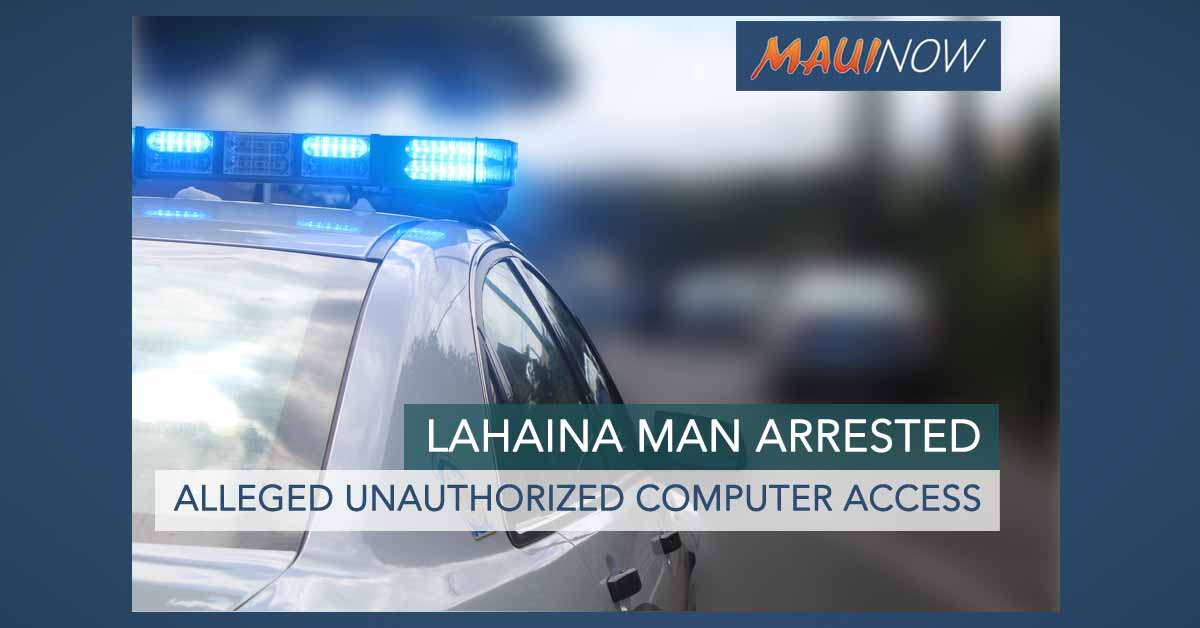 Man Allegedly Found Using Computer at Lahaina Business