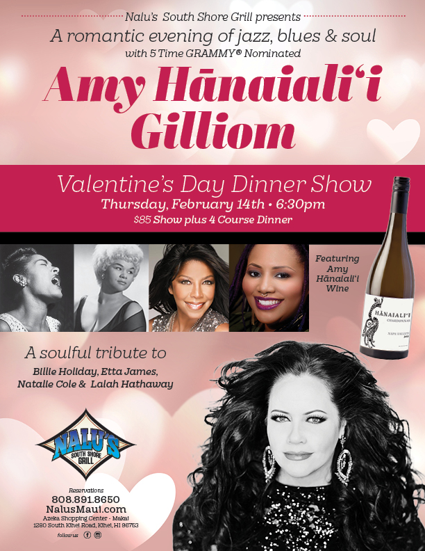Nalu's South Shore Grill Hosts Valentine's Dinner Show