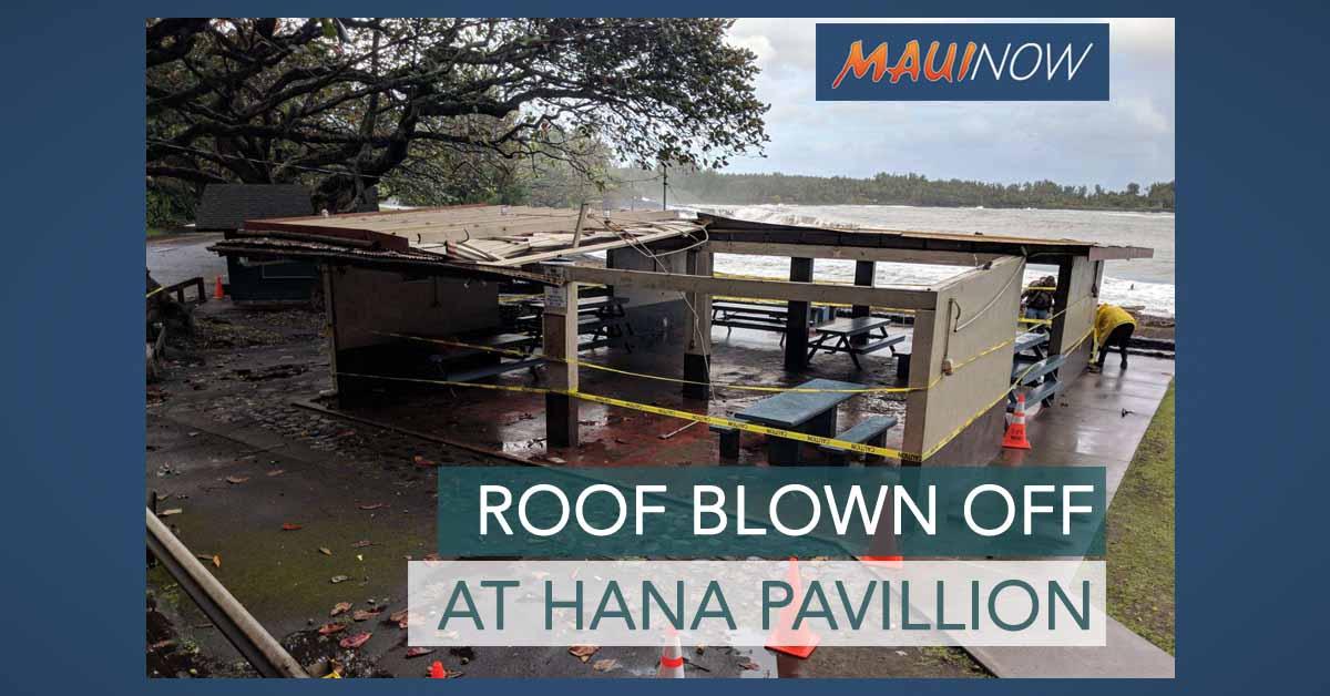 Winds Blow Off Roof at Hāna Bay Pavilion