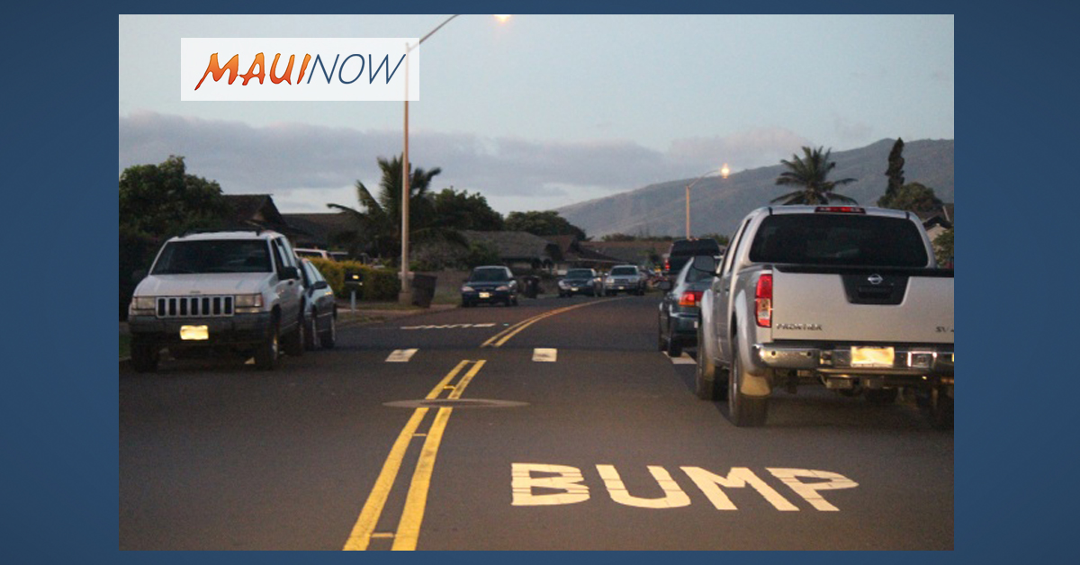 Ask the Mayor: How Can we Get Speed Bumps/Tables on Makani Road?