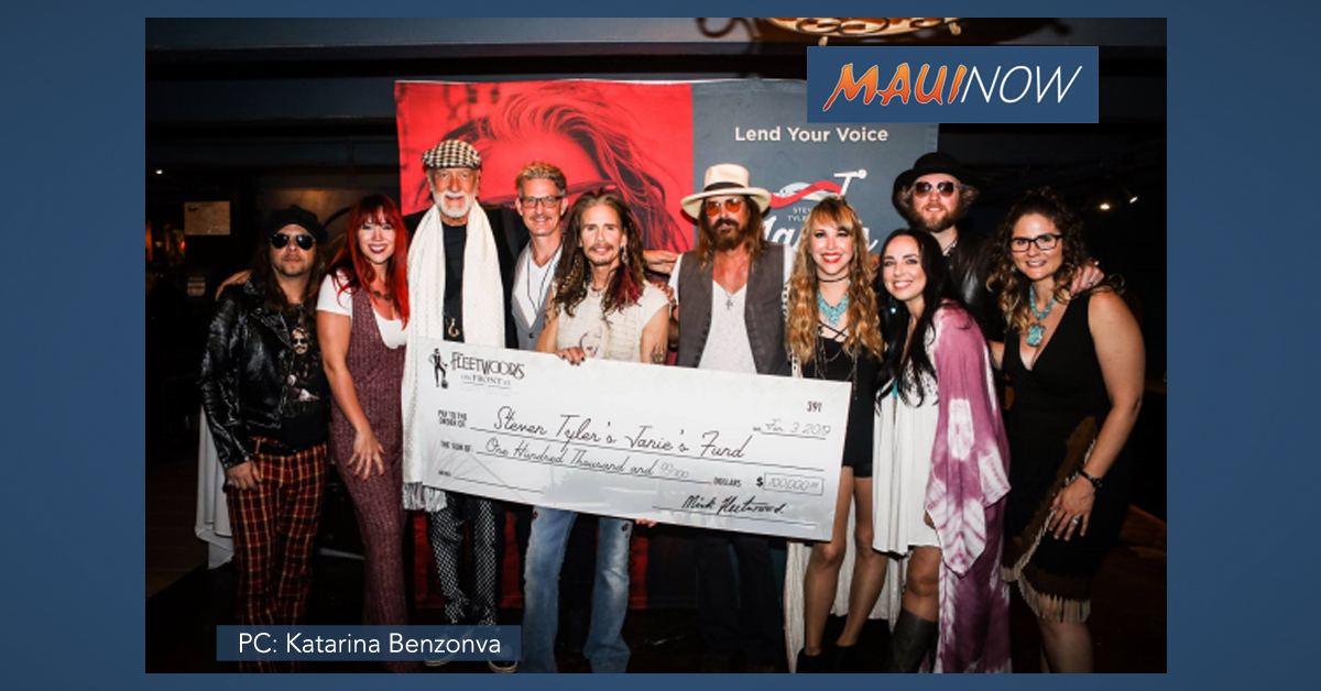 $100,000 Raised in Maui Benefit Concert for Steven Tyler's Janie's Fund
