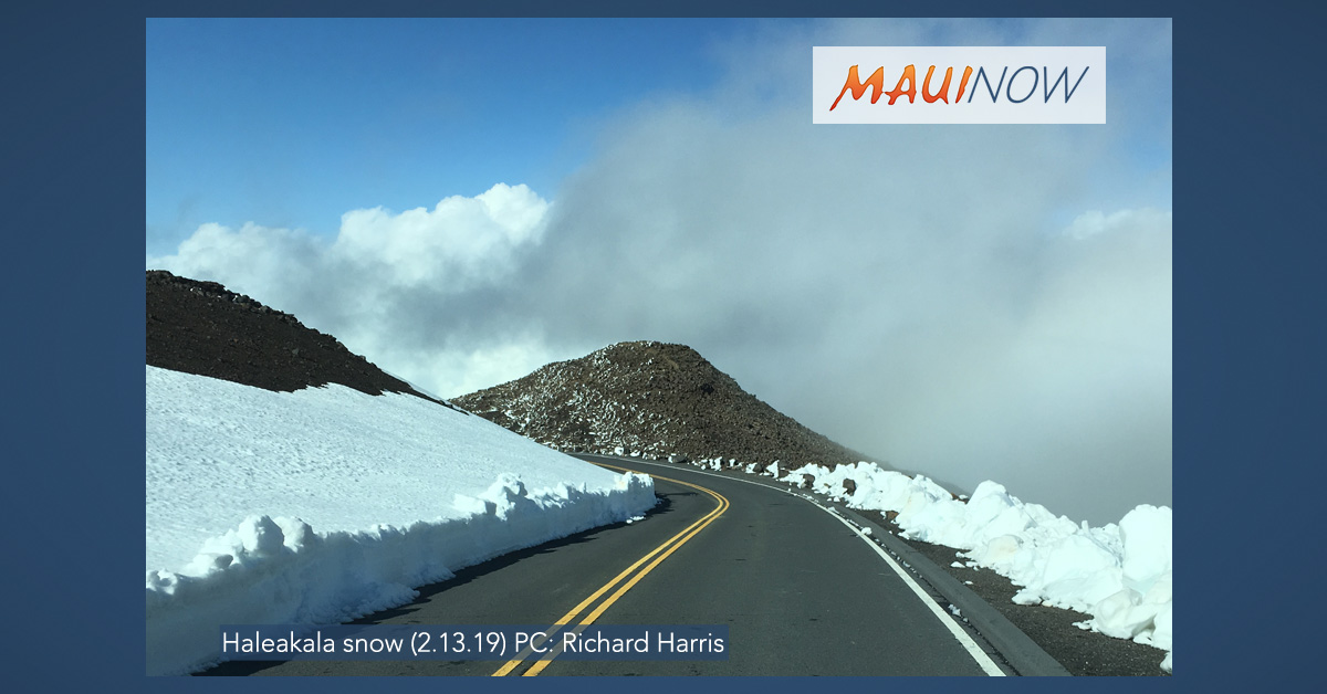 "Six Consecutive Snow Days at Haleakalā ""Unusual"" But Not Unheard-Of"