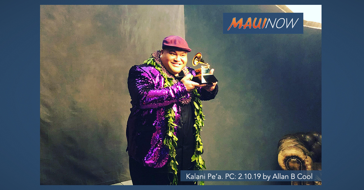 Kalani Pe'a Wins Grammy for Sophomore Album