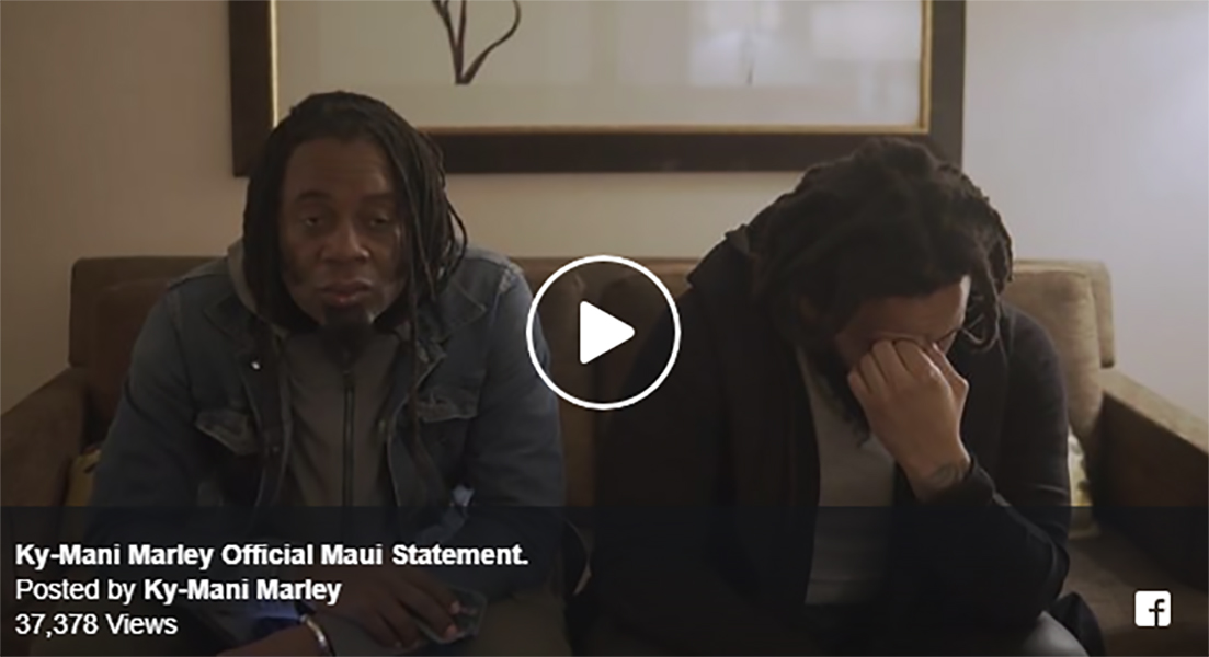 Ky-mani Marley Apologizes for No Show on Maui
