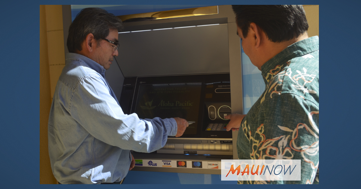 Maui's First Interactive Teller Machine Installed