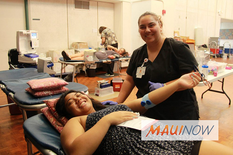 Blood Bank of Hawaiʻi to Hold Blood Drives on Maui