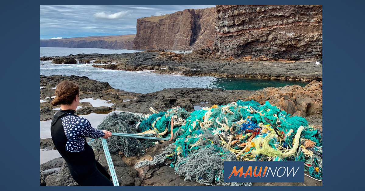 1500 lb Net Mass, Plastic Trash Removed on Lānaʻi