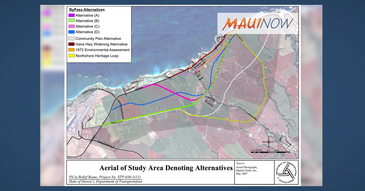 Pā'ia Relief Route Discussion Deferred Pending Funding