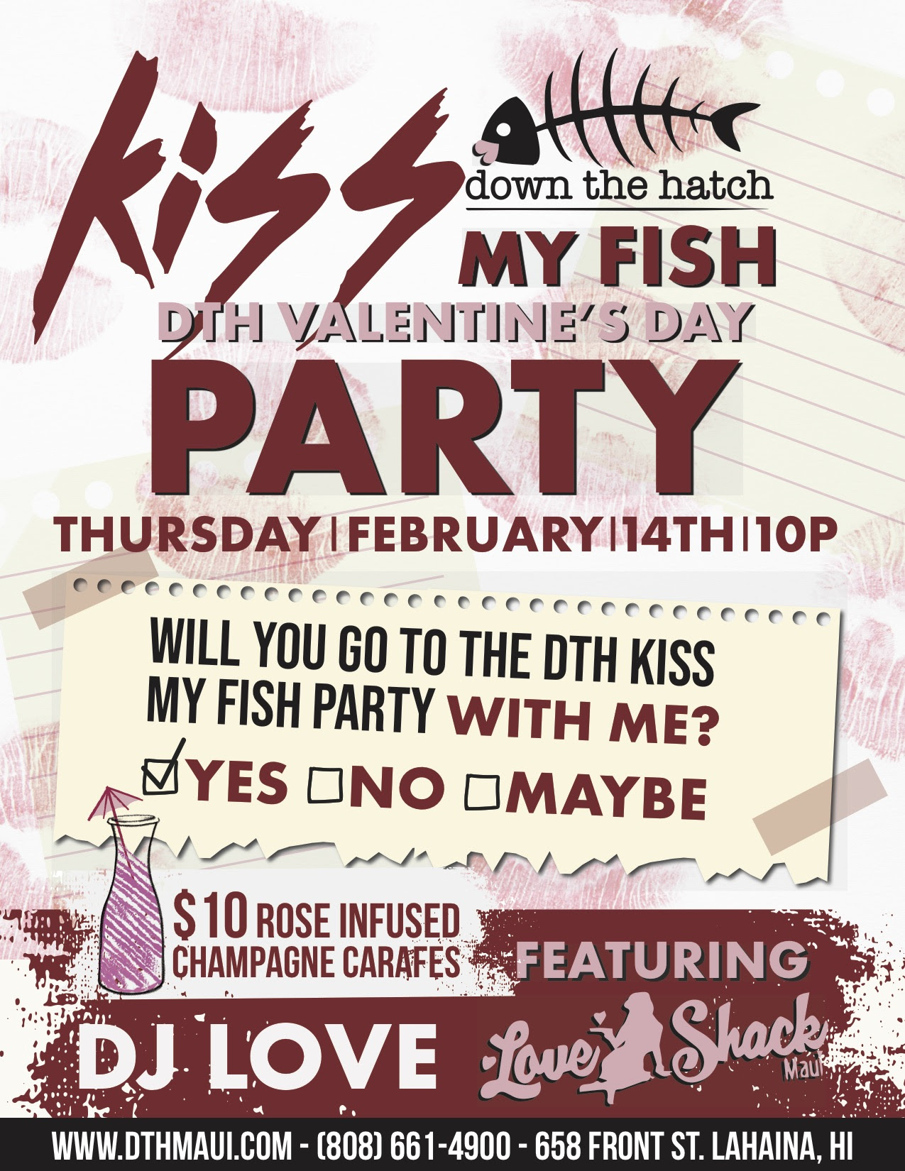 """Kiss my Fish"" Valentine's Party at DTH"