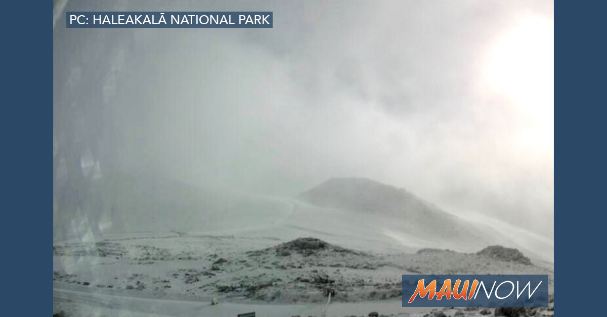 "VIDEO: 3"" of Snow Forecast at Haleakalā, Maui Summit Closed"