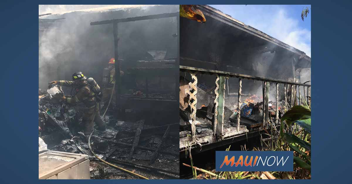 Fire Destroys Ha'ikū Home, Family Displaced