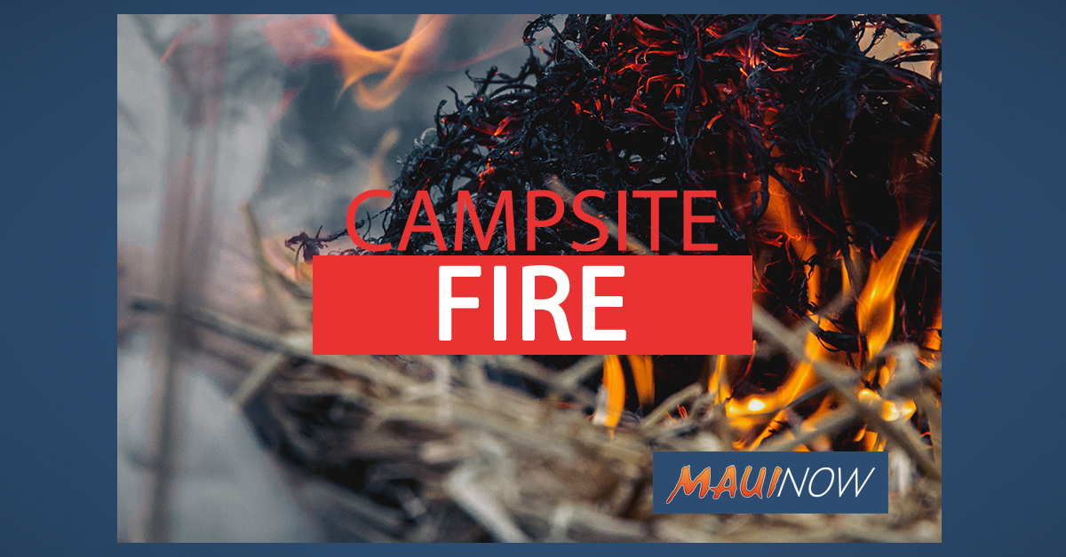 Makeshift Campsite in Kula Destroyed by Fire