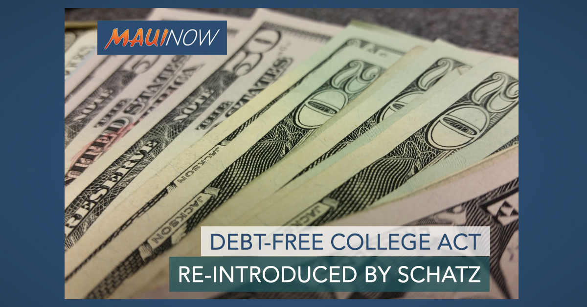 Schatz Reintroduces Debt-Free College Act
