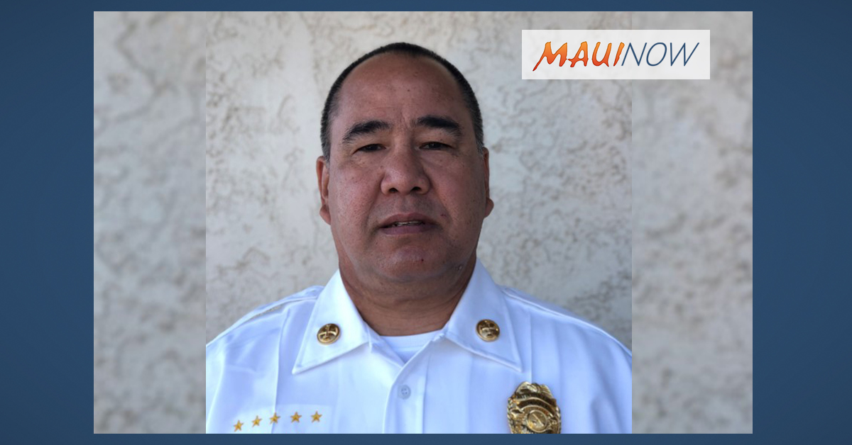 Danley Promoted to Maui Fire Battalion Chief