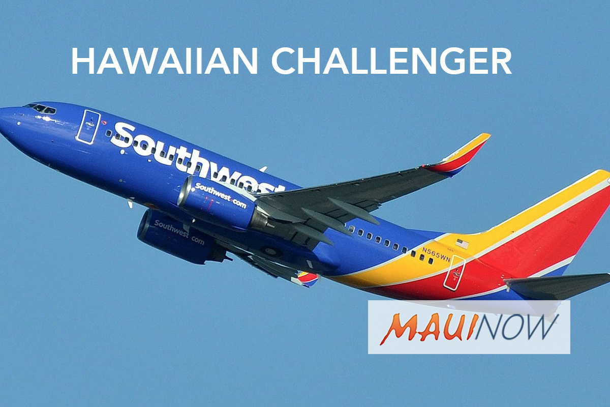 Southwest to Challenge Hawaiian's Interisland Service