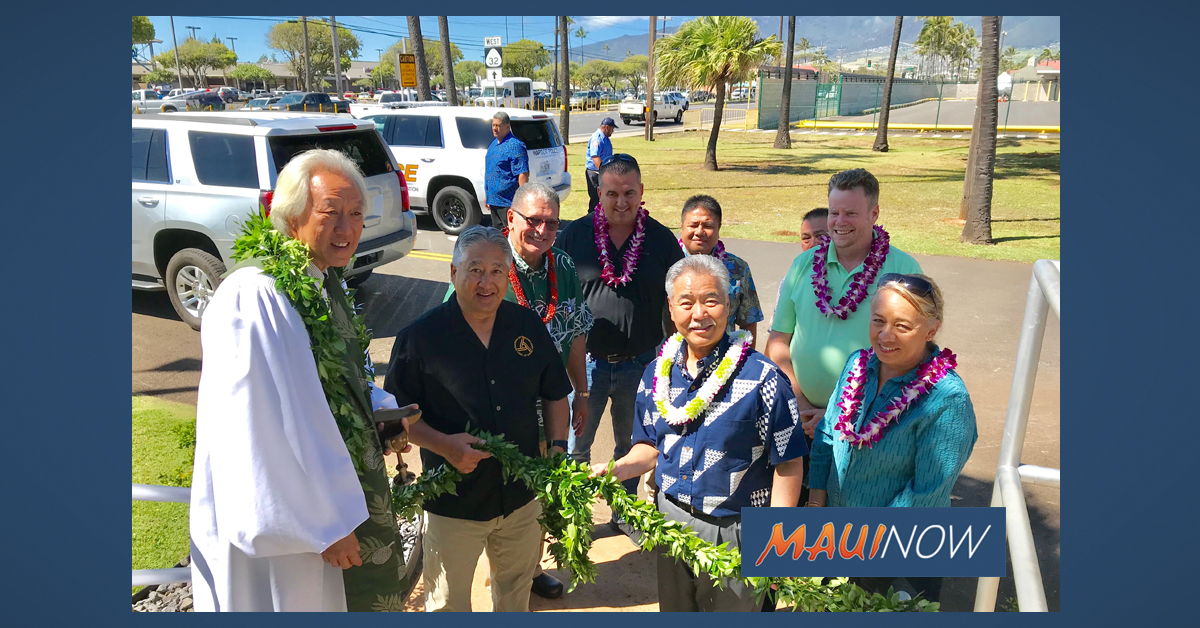 Maui Harbor District Office Relocated, Blessed