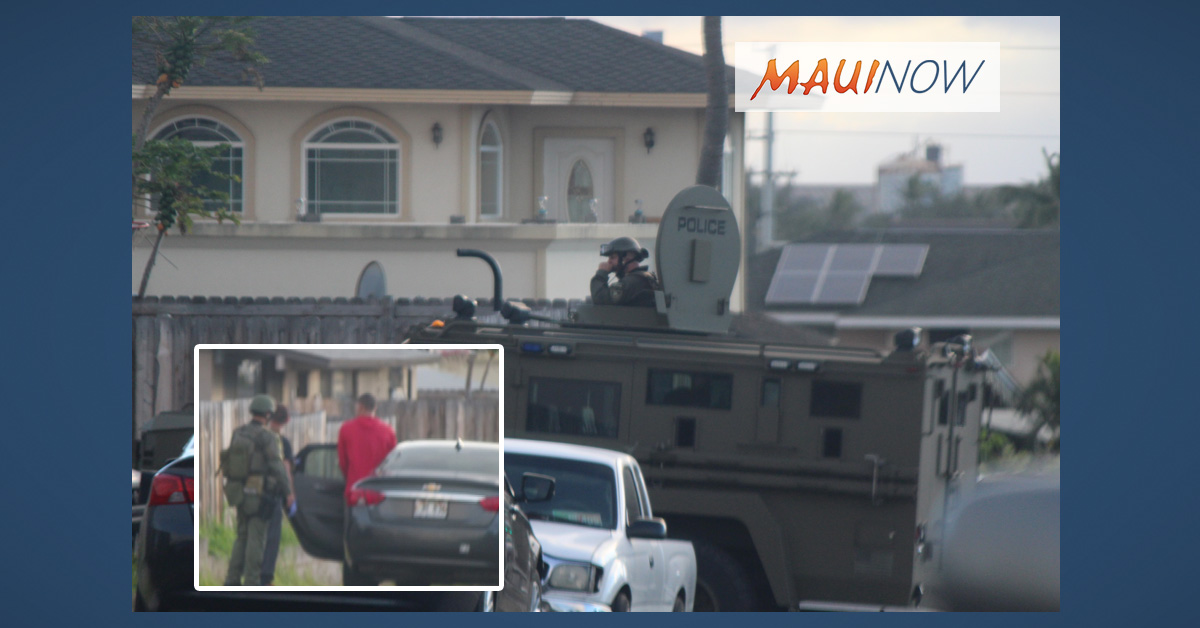 Maui Police Special Response Team Takes Man into Custody at Kahului Home