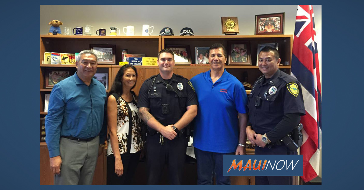 Man Meets with Maui Officers Who Saved Him