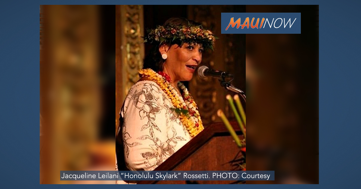 """Honolulu Skylark"" Passes Away March 20"