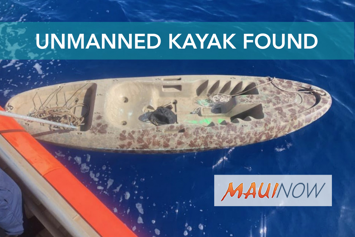 Unmanned Kayak Found in West Maui Waters