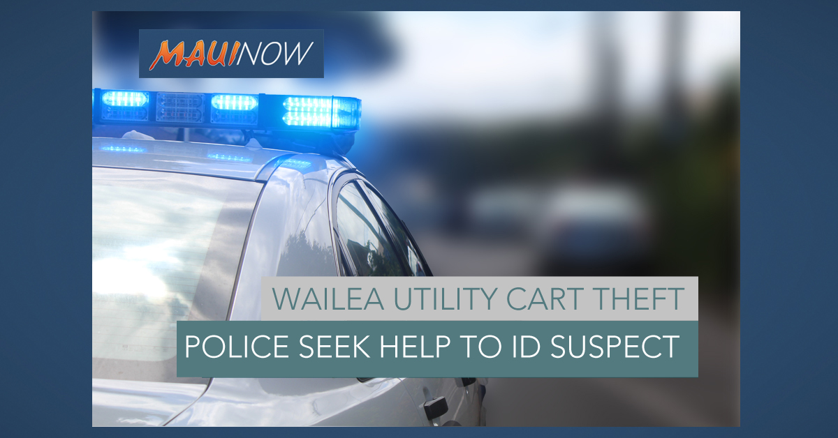 Help Sought in Wailea Resort Utility Cart Theft