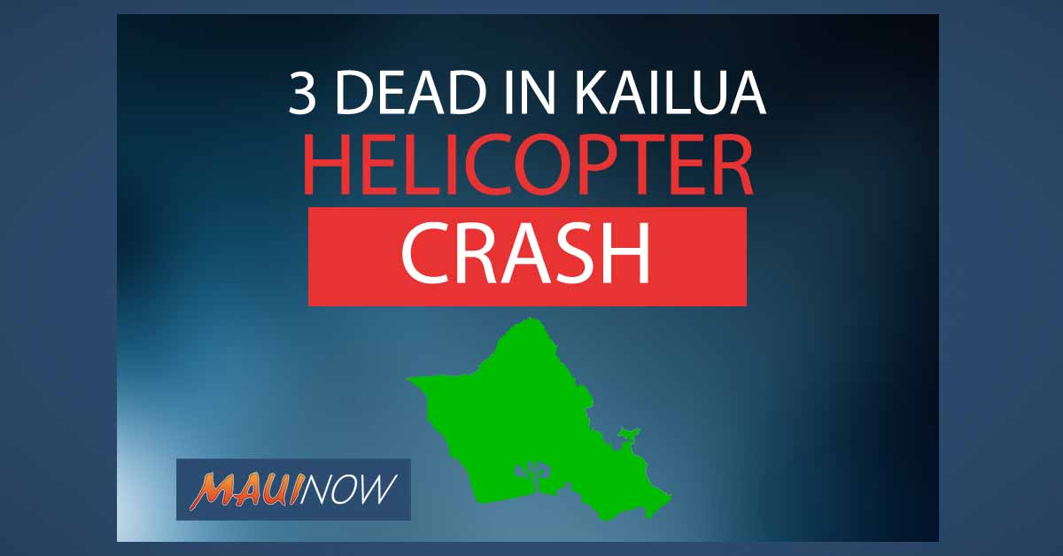 Three Die in Kailua Helicopter Crash
