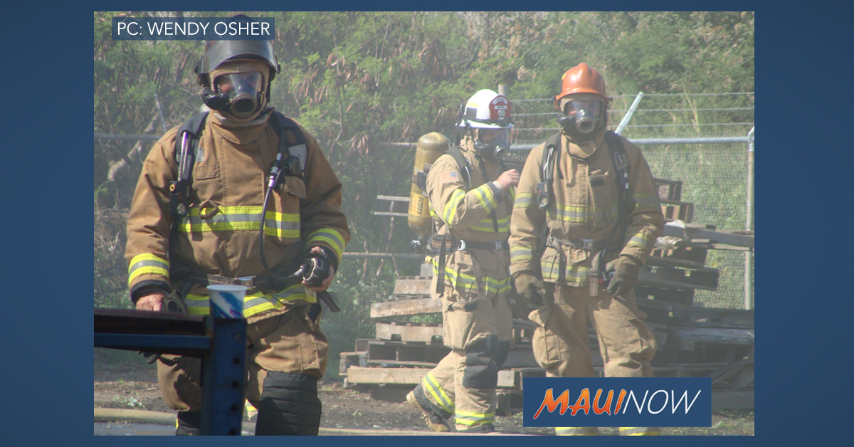 Maui Wildland Fire Training Today at Mahi Pono Parcel