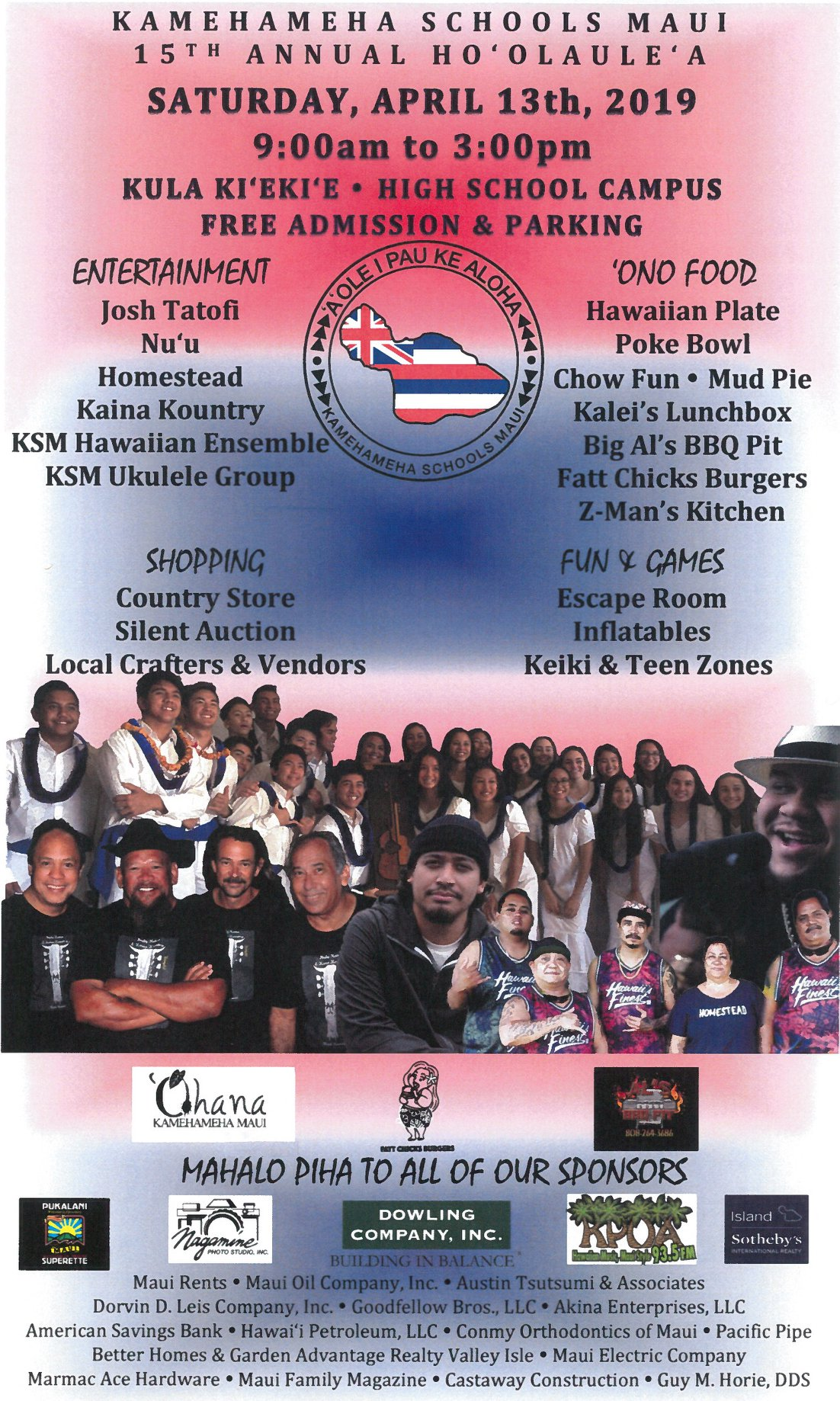 15th Annual Kamehameha Schools Maui Ho'olaule'a