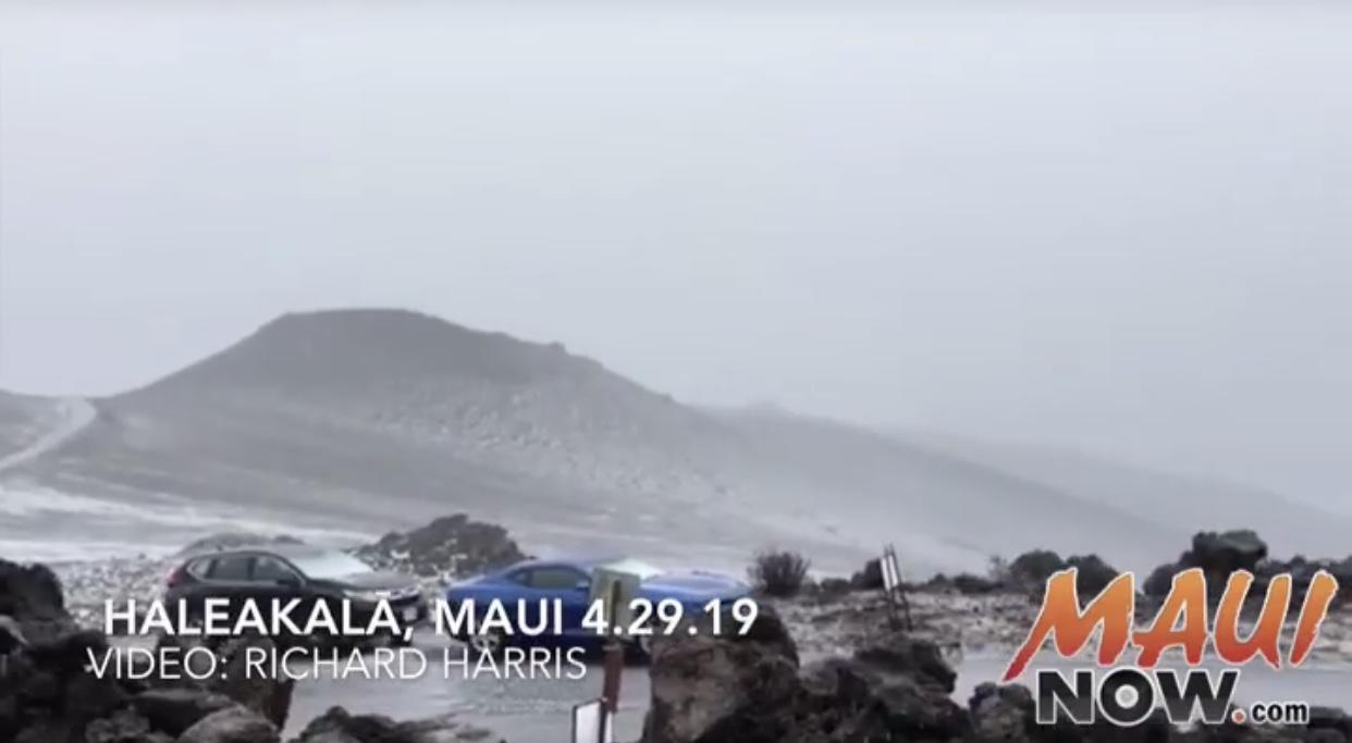 Maui Flood Warning Until 4:45 p.m., Hail at Haleakala