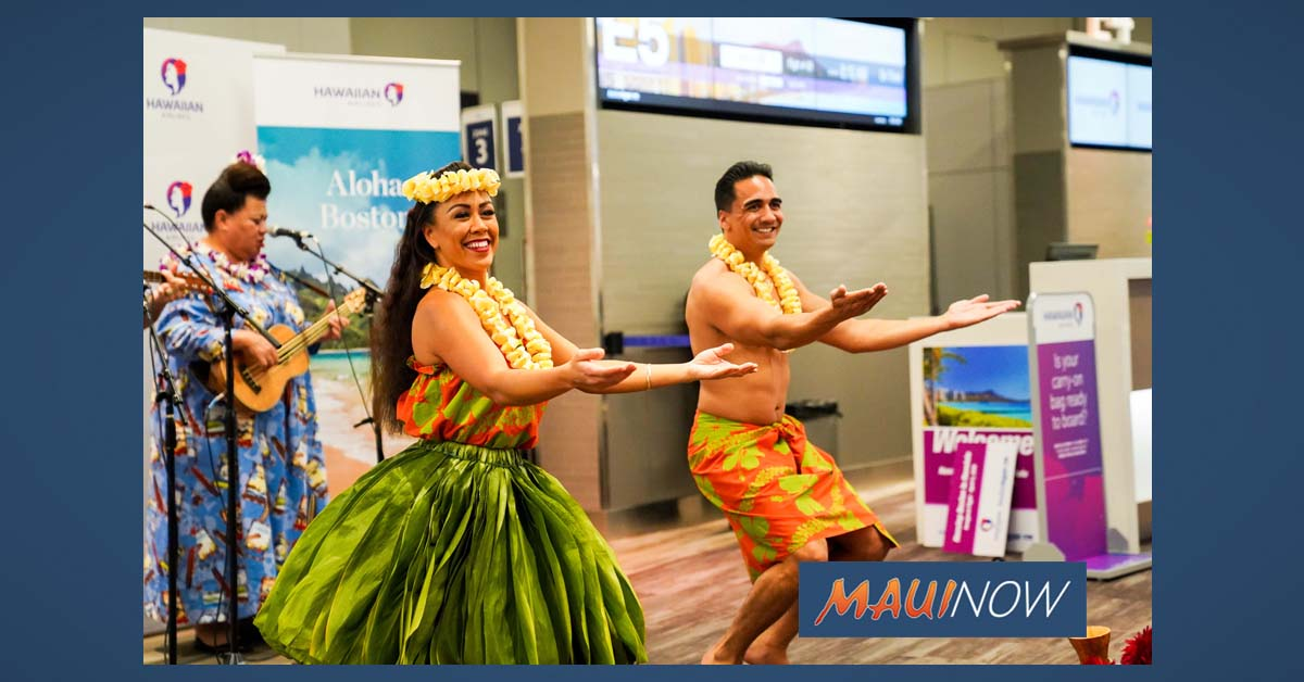 Hawaiian Airlines New Boston Route Makes History
