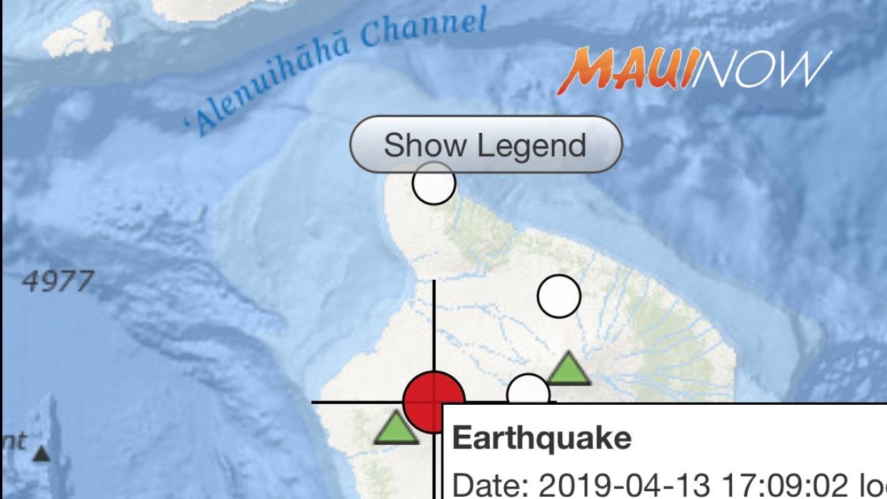 No Tsunami After 5+ Earthquake Hualalai, Hawaii