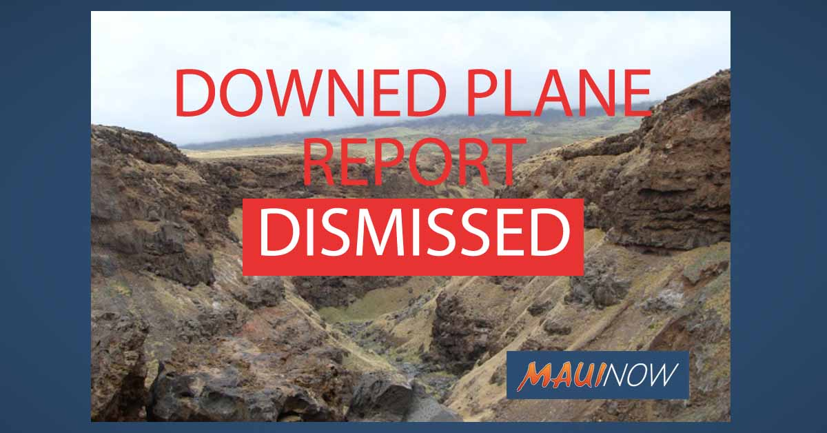 Coast Guard Dismisses Possible Downed Plane Report in Kaupō, Maui