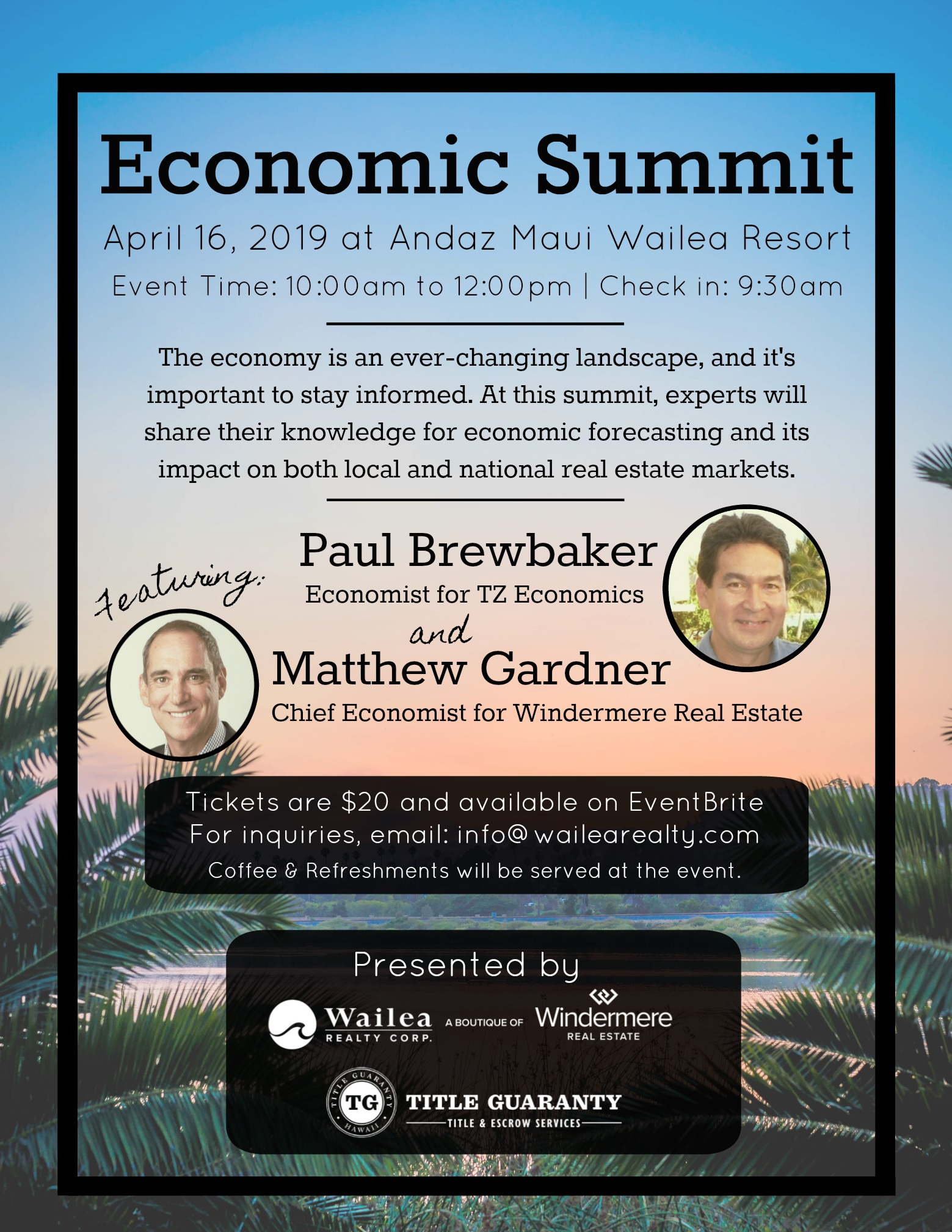 US-Hawai'i Real Estate Economic Summit on Maui