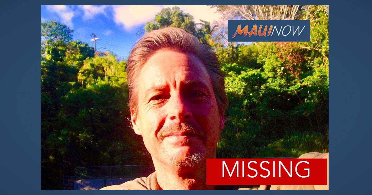 Missing Man, Public Help Sought on Maui