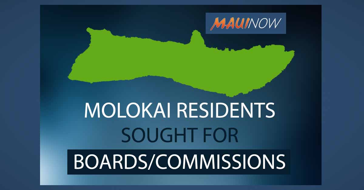 Moloka'i Residents Sought for Boards and Commissions