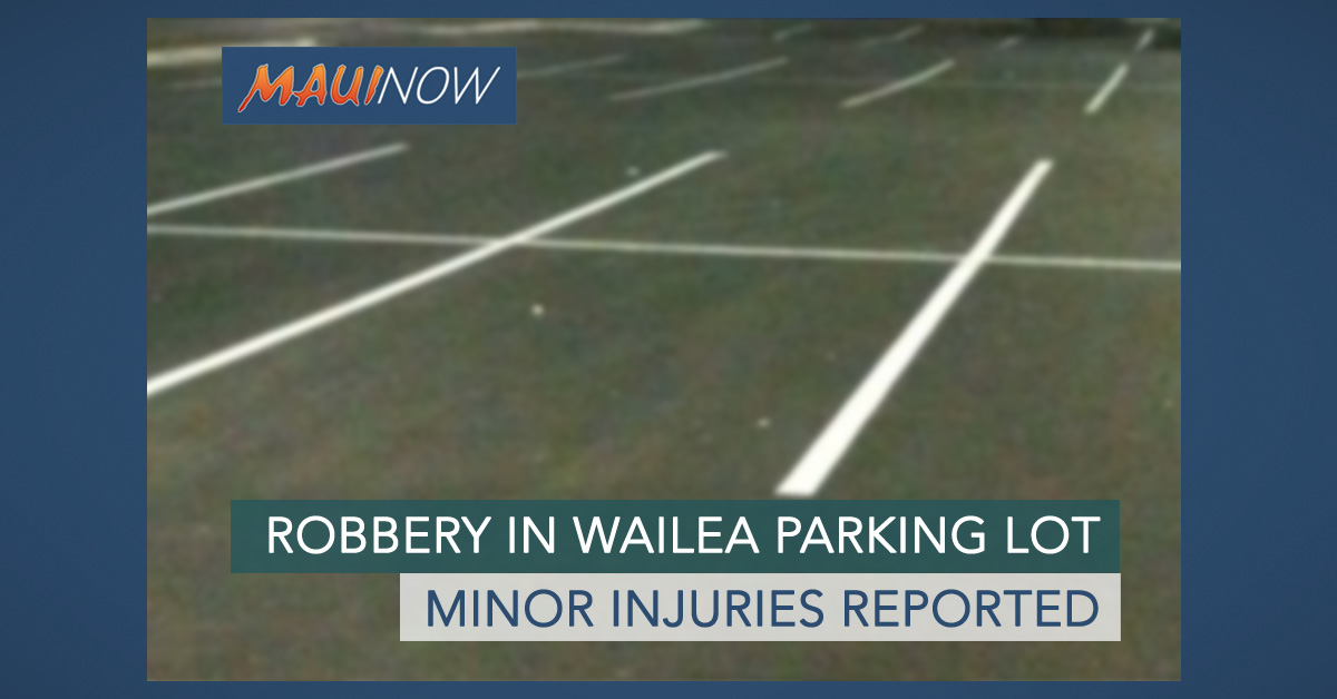 Robbery Reported in Wailea Parking Lot