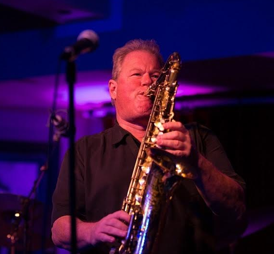Saxophonist Rock Hendricks at The Shops, April 3