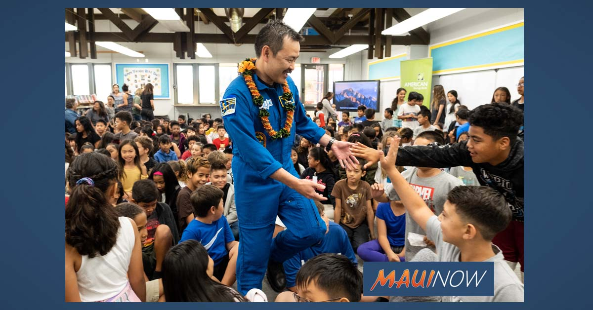 NASA Astronaut Visits Students for Onizuka Science Day