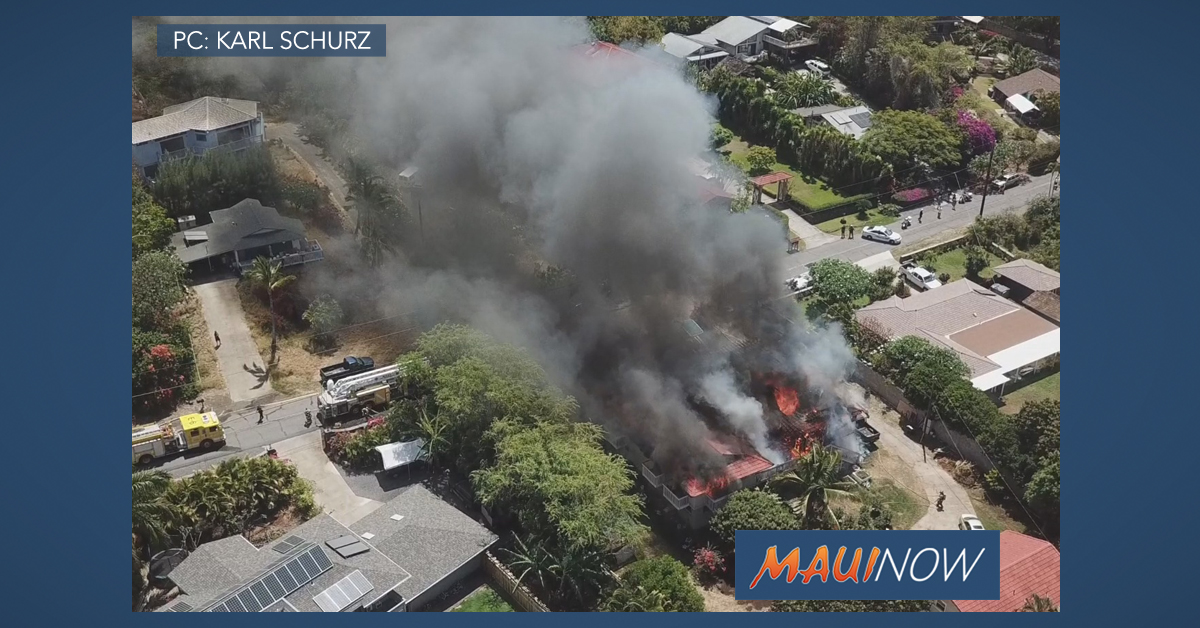 7 Displaced After Maui Meadows Home Fire