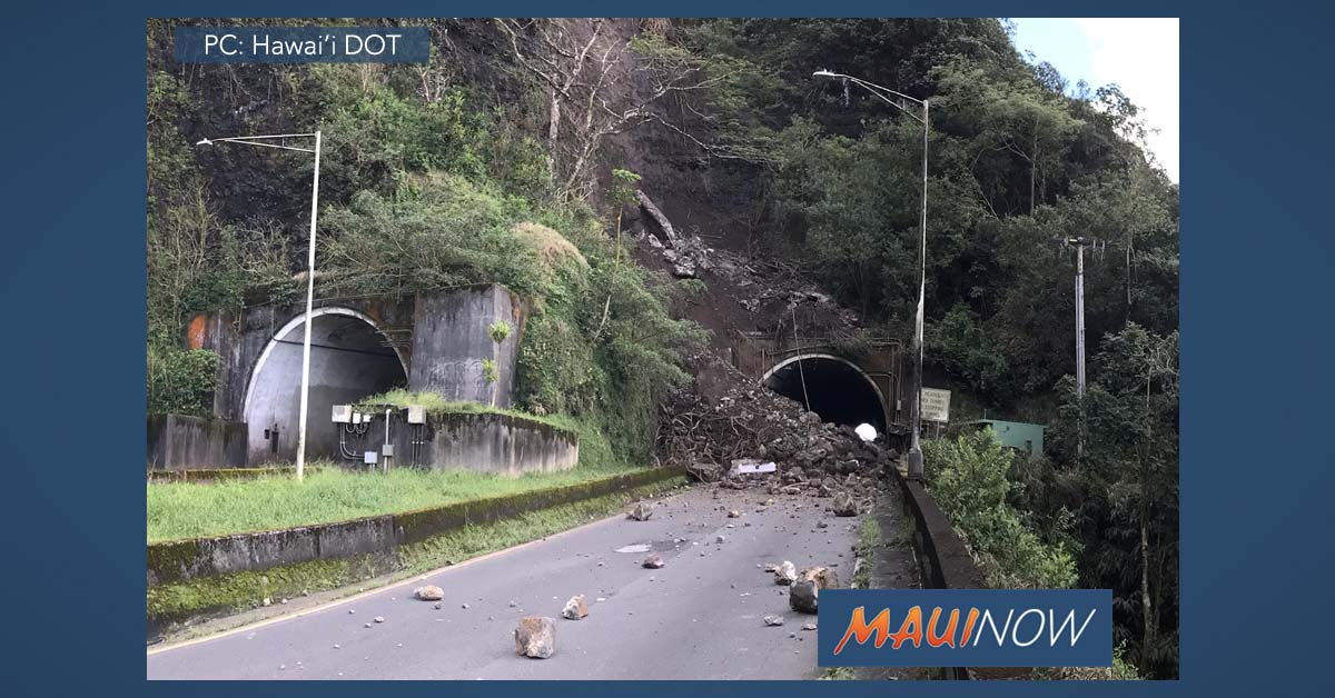 Emergency Declaration Extended for O'ahu's Pali Highway