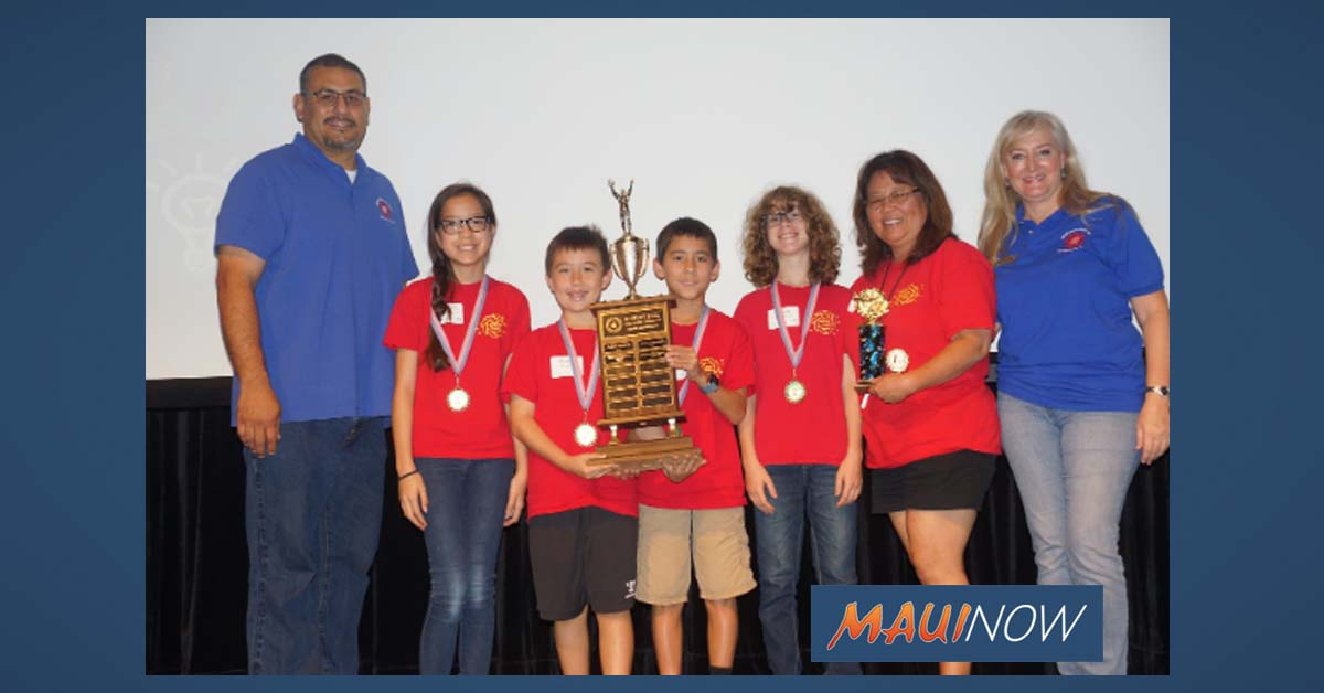 Pukalani School Wins Overall Title at Maui Math Challenge