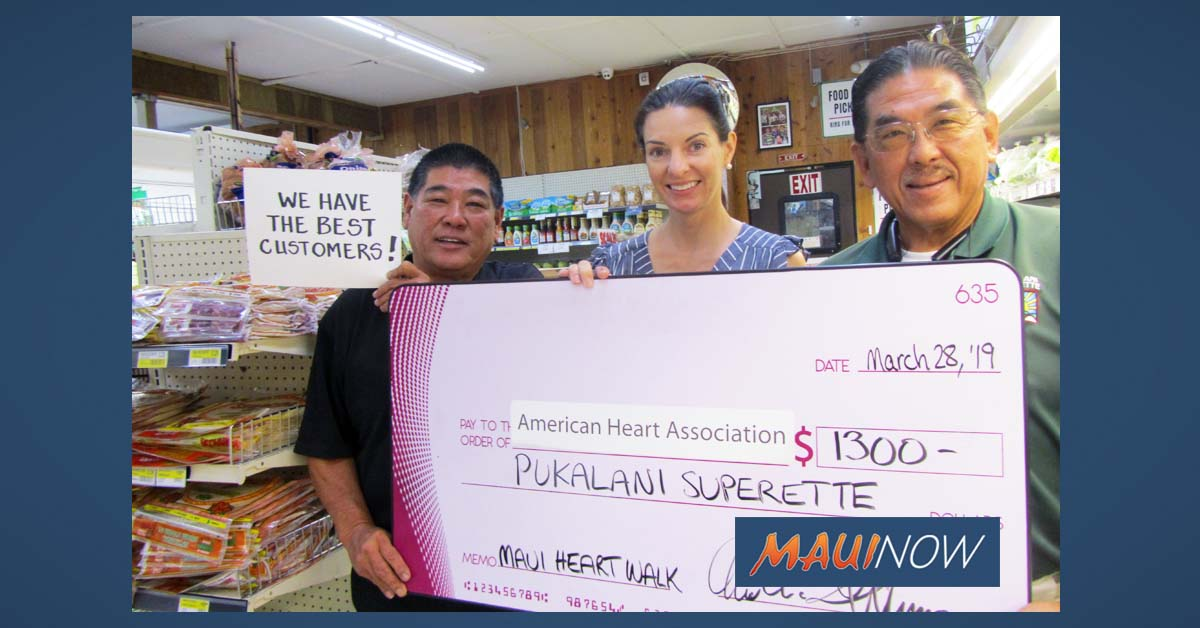 Pukalani Superette Donations Support Heart Health