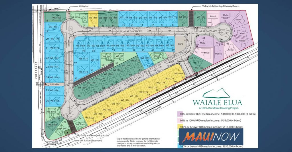 Maui Now: Lotteries Held, Construction Starts at Wai'ale 'Elua Workforce Housing
