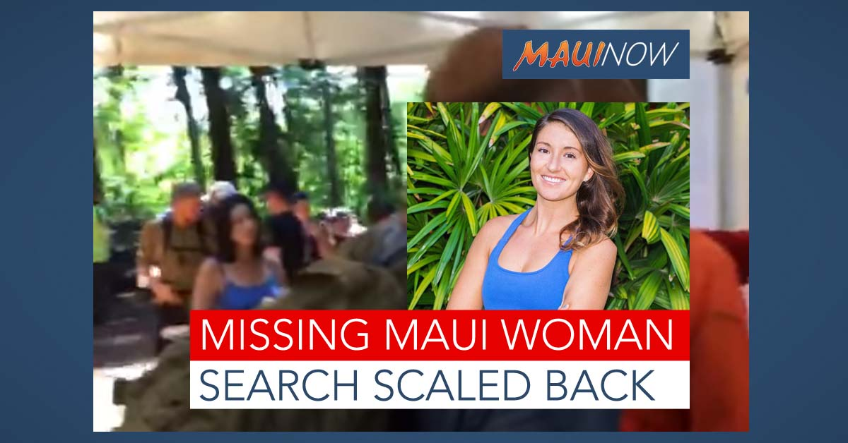 Missing Maui Woman: Family Arrives, Search Scaled Back