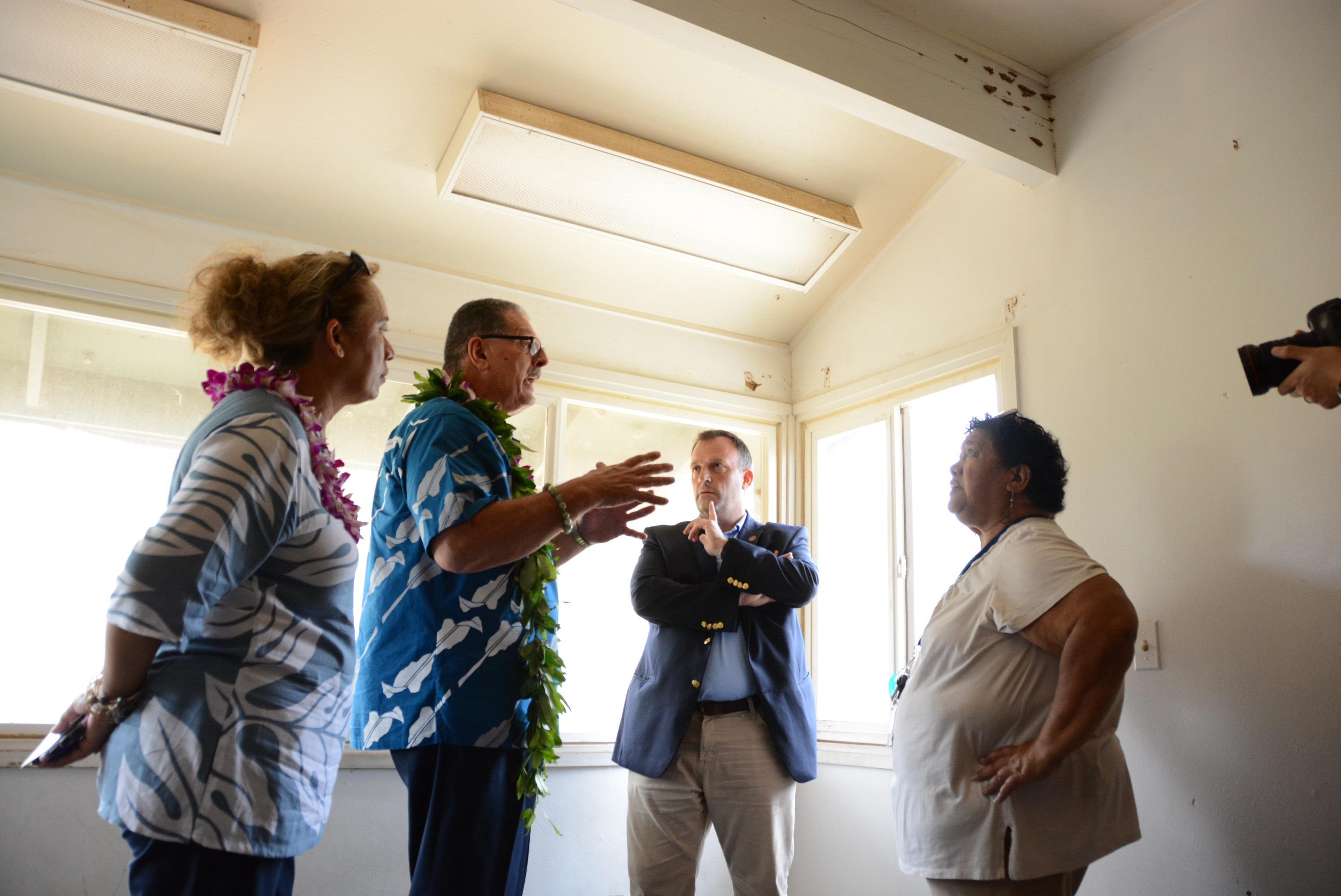 Mayor, Lt. Gov. Tour Old UH-Maui College Dorm Site