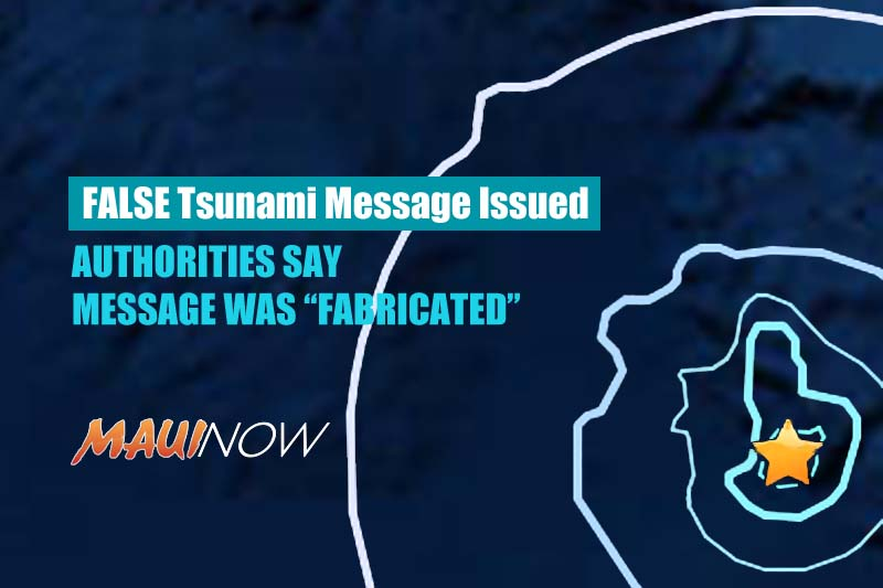 Fake Tsunami Report Issued on Fabricated Large Quake