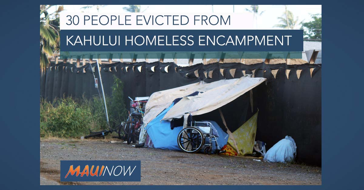 Homeless Cleared from Kahului Encampment