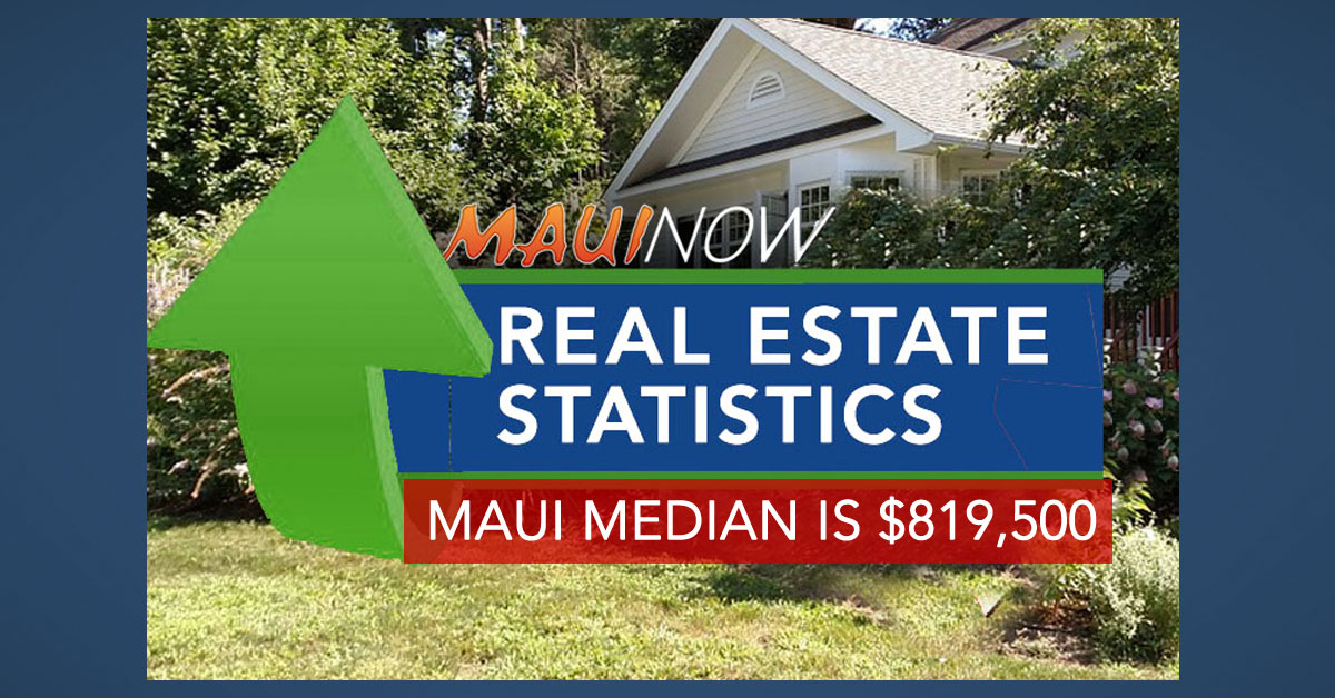Report: Maui Median Home Price $819,500